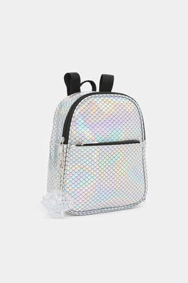 Ardene Holographic Scale Backpack
