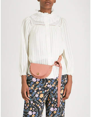 See by Chloe Ruffled neck crepe voile shirt