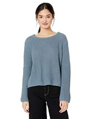 Roxy Junior's Boardwalk Show Cropped Bell Sleeve Sweater,XS