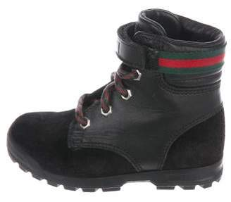 Gucci Boys' Suede Ankle Boots