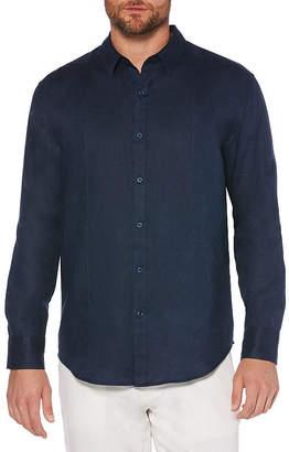 Cubavera Mens Long Sleeve Button-Front Shirt