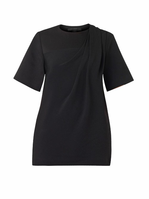 Alexander Wang Draped textured-crepe top
