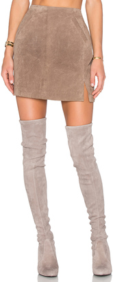 BLANKNYC Suede Skirt $98 thestylecure.com