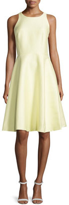 Kate Spade New York Sleeveless Open Bow-Back Dress, Lemon Souffle $268 thestylecure.com
