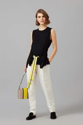 Amanda Wakeley Sleeveless Cashmere Wrap Top in Lemon