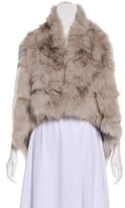 Theory Asymmetrical Fur Vest