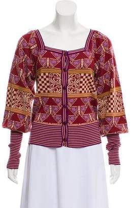 Anna Sui Patterned Knit Cardigan