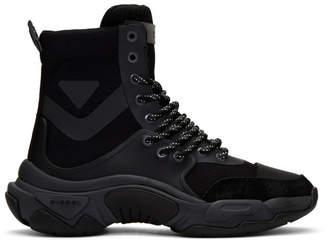 Diesel Black S-Kipper Mid Lace Boots