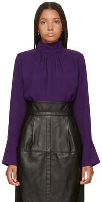 Marc Jacobs Purple Georgette Blouse