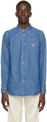 Paul Smith Blue Denim Zebra Tailored Shirt