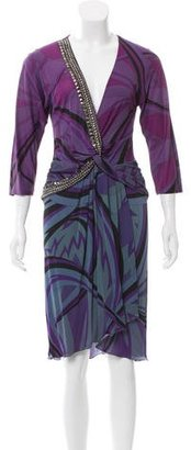 Emilio Pucci Embellished Abstract Print Dress $200 thestylecure.com