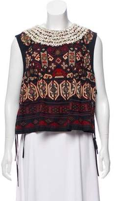 Dries Van Noten Embellished Sleeveless Top