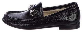 Gucci Boys' Patent Leather Horsebit Loafers