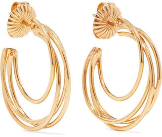 Natasha Schweitzer - Lindsey 14-karat Gold-plated Hoop Earrings