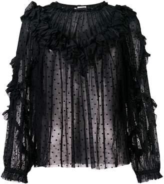 Ulla Johnson polka dot lace blouse