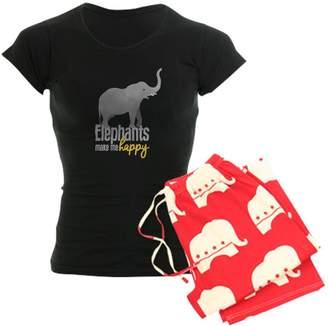 13799bc171d68 CafePress - Elephants Make Me Happy - Womens Pajama Set