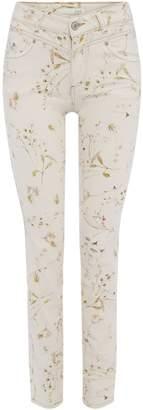 Oui Botanical print jean