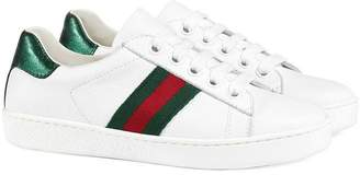 35e97952ce5f Gucci Kids Children s leather low-top with Web