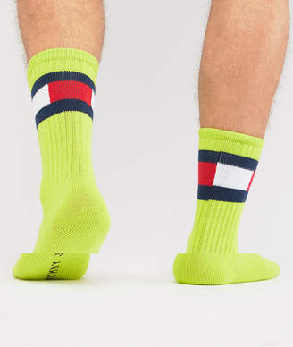 Tommy Hilfiger 5.0 Flag Sock in Green