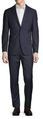 Black & Brown Black Brown Classic Wool Suit