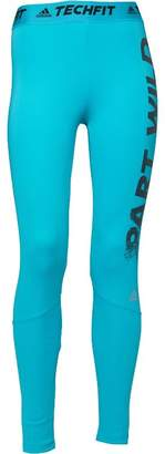 adidas Womens Techfit Climalite Part Wild Tight Leggings Energy Blue