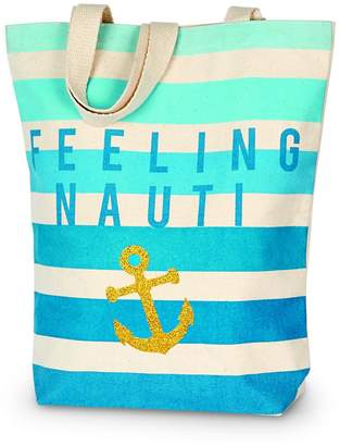 Mud Pie Canvas Beach Tote $12.95 thestylecure.com