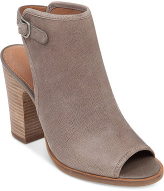 Lucky Brand Women's Lisza Peep-Toe Shooties $109 thestylecure.com