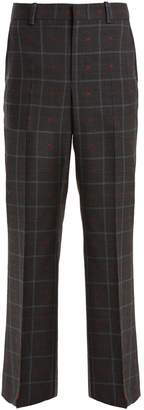 Gucci Heart fil coupé checked wool-blend trousers
