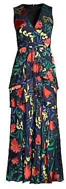 Saloni Women's Lara Graphic Maxi Dress - Size 0