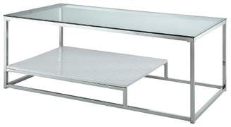 HOMES: Inside + Out Tressie Coffee Table White/Chrome - ioHOMES