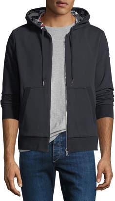 Moncler Gamme Bleu Maglia Zip-Front Reversible Hoodie Sweatshirt