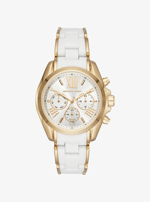 Michael Kors Bradshaw Gold-Tone and Silicone Watch