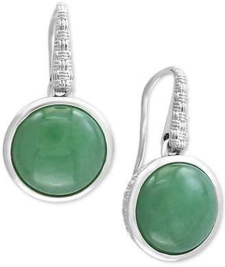 Effy Verde by Jade Drop Earrings in Sterling Silver