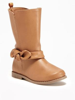 Faux-Leather Boots for Toddler Girls $29.94 thestylecure.com