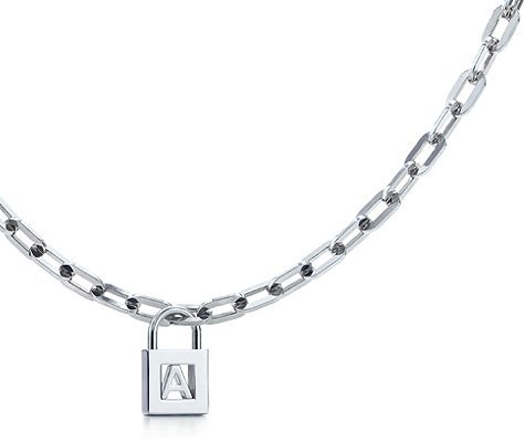 Letter Lock Charm Necklace