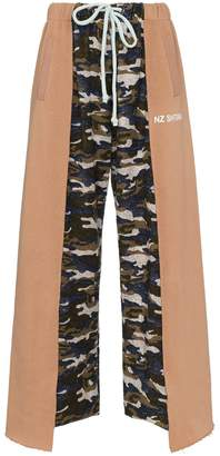Natasha Zinko camouflage panelled cotton blend track pants
