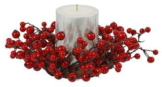 """Vickerman 10"""" Red Mixed Berry Candle Ring 3.5"""" Center"""