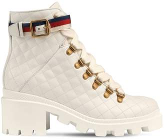 Gucci 40mm Trip Quilted Leather Boots