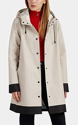 Stutterheim Raincoats Women's Mosebacke Colorblocked Cotton-Blend Raincoat - Sand