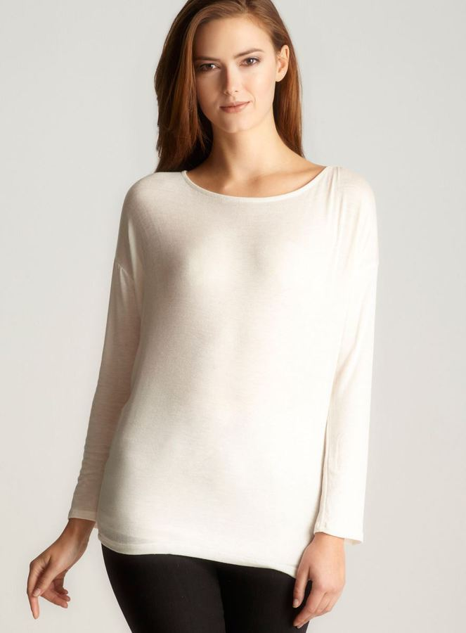 Romeo & Juliet Couture Dolman Sleeve Top, Off White