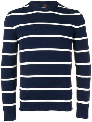 Piombo Mp Massimo striped fine knit sweater