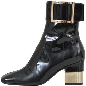 Roger Vivier 7cm Black Patent Boots