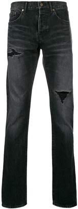 Saint Laurent distressed slim fit jeans