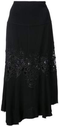 Derek Lam Midi Skirt with Lace Detail