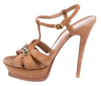 Saint Laurent Chain-Link Platform Sandals
