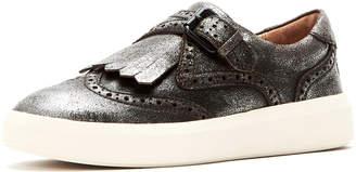 Frye Brea Metallic Leather Wing-Tip Kiltie Skate Sneakers