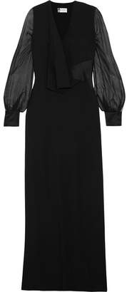 Lanvin - Draped Crepe, Silk-chiffon And Satin Gown - Black $3,690 thestylecure.com