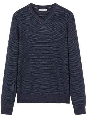 Mango man MANGO MAN Structured v-neck sweater