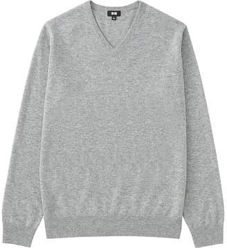 UNIQLO Men's Cashmere V-Neck Sweater $99.90 thestylecure.com
