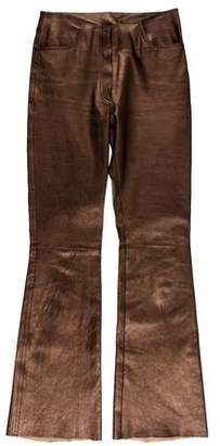 Jitrois Leather Mid-Rise Pants